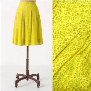 {HD in Paris} Anthro Yellow/ Chartreuse Lace Skirt